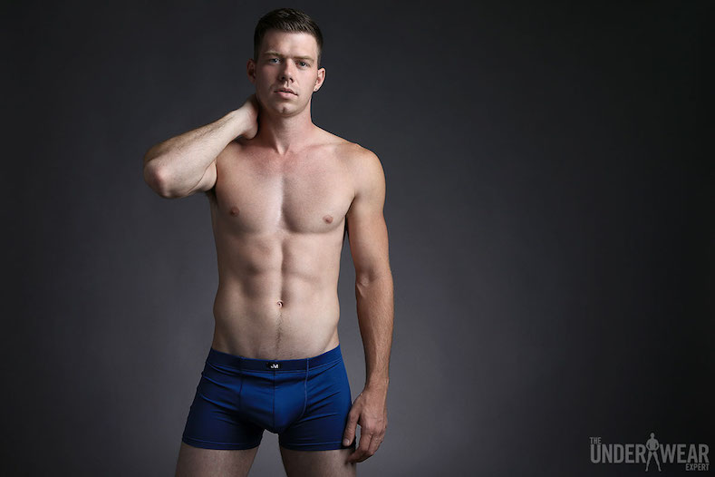 6463b4b700 JM SKINZ Pouch Boxer in Navy is featured on The Underwear Expert in an  article entitled